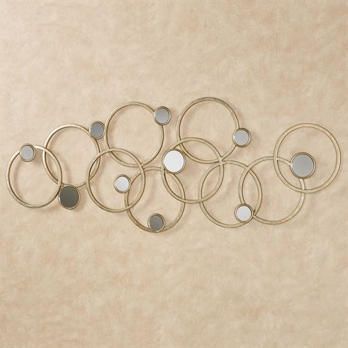 Bristow Overlapping Circles Abstract Metal Wall Art | iltribuno.com