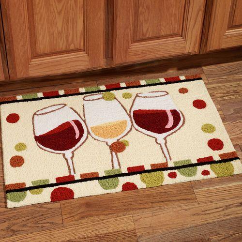 wine kitchen rugs can lights en vin glass handmade rug multi warm 19 x 29