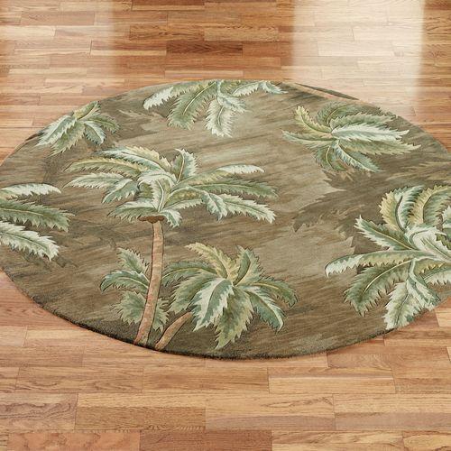 palm tree kitchen decor alder cabinets trees round rugs