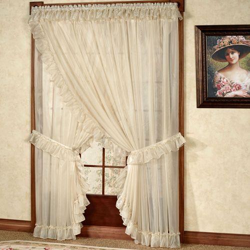 priscilla curtains living room mid century modern armchair jessica ninon ruffled wide curtain pair white 250 x 84