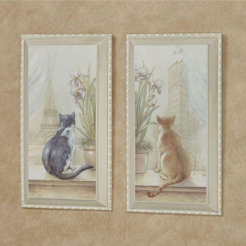 orange kitchen rugs oak table sets urban felines cat wall art plaque set
