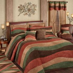 Kitchen Throw Rugs Washable Rubber Flooring Cadence Wavy Stripe Faux Suede Oversized Bedspread Bedding