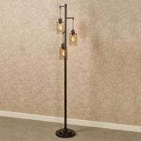 Thomas Three Light Floor Lamp with Edison Bulbs