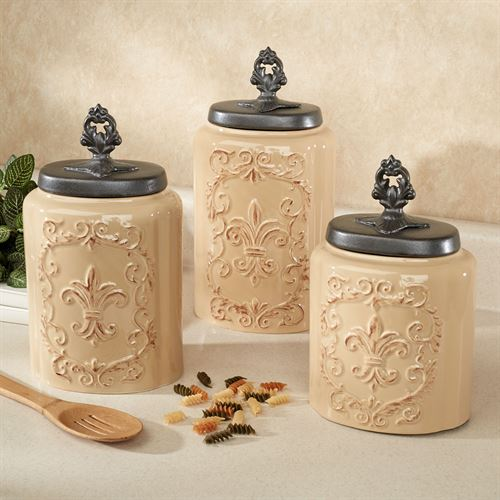 kitchen canisters ceramic 4 piece table set fioritura canister