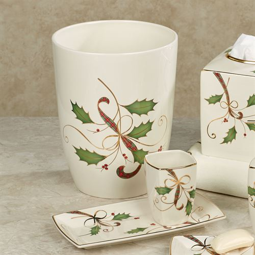 lenox christmas chair covers cushion argos holiday nouveau bath accessories lotion soap dispenser ivory