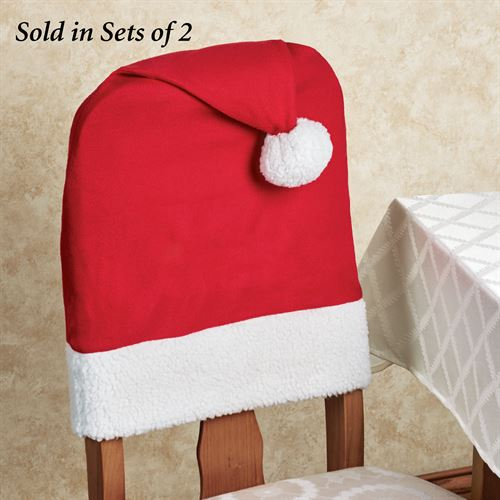 santa chair covers sets vintage table and chairs hat back cover set of 2 red two