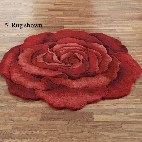 Raelyn Red Rose Flower Shaped Rugs