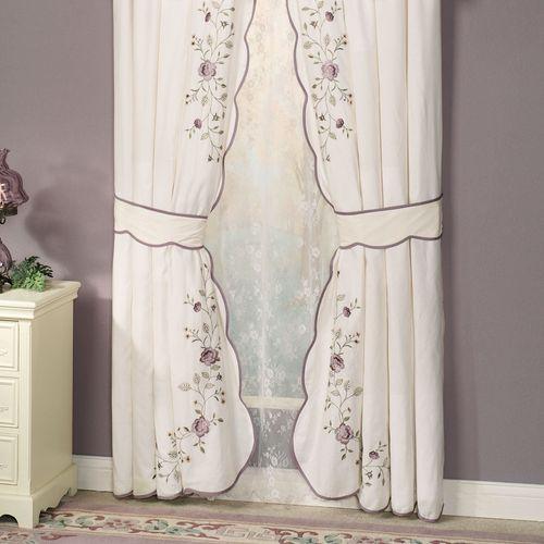 Vintage Bloom Embroidered Window Treatments