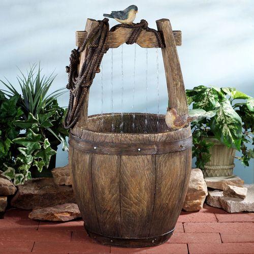 Wishing Well Indoor Outdoor Bird Water Fountain