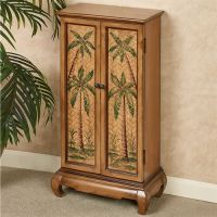 Taureek Palm Tree Tropical Storage Cabinet
