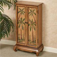 Taureek Palm Tree Tropical Storage Cabinet