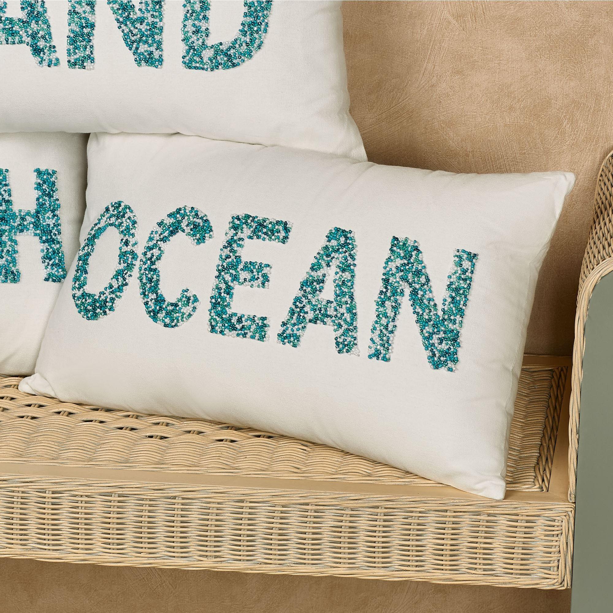 seashore beaded coastal word