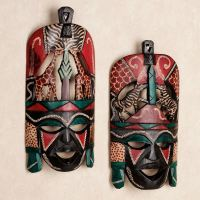 African Tribal Wall Mask Set