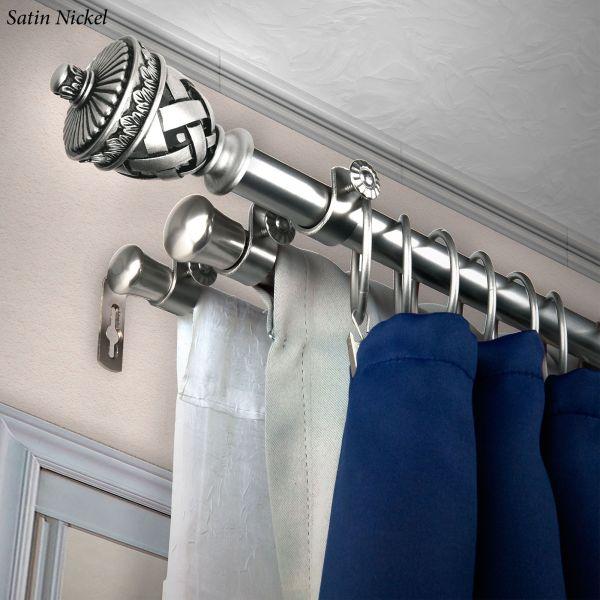 Carina Triple Decorative Curtain Rod Set