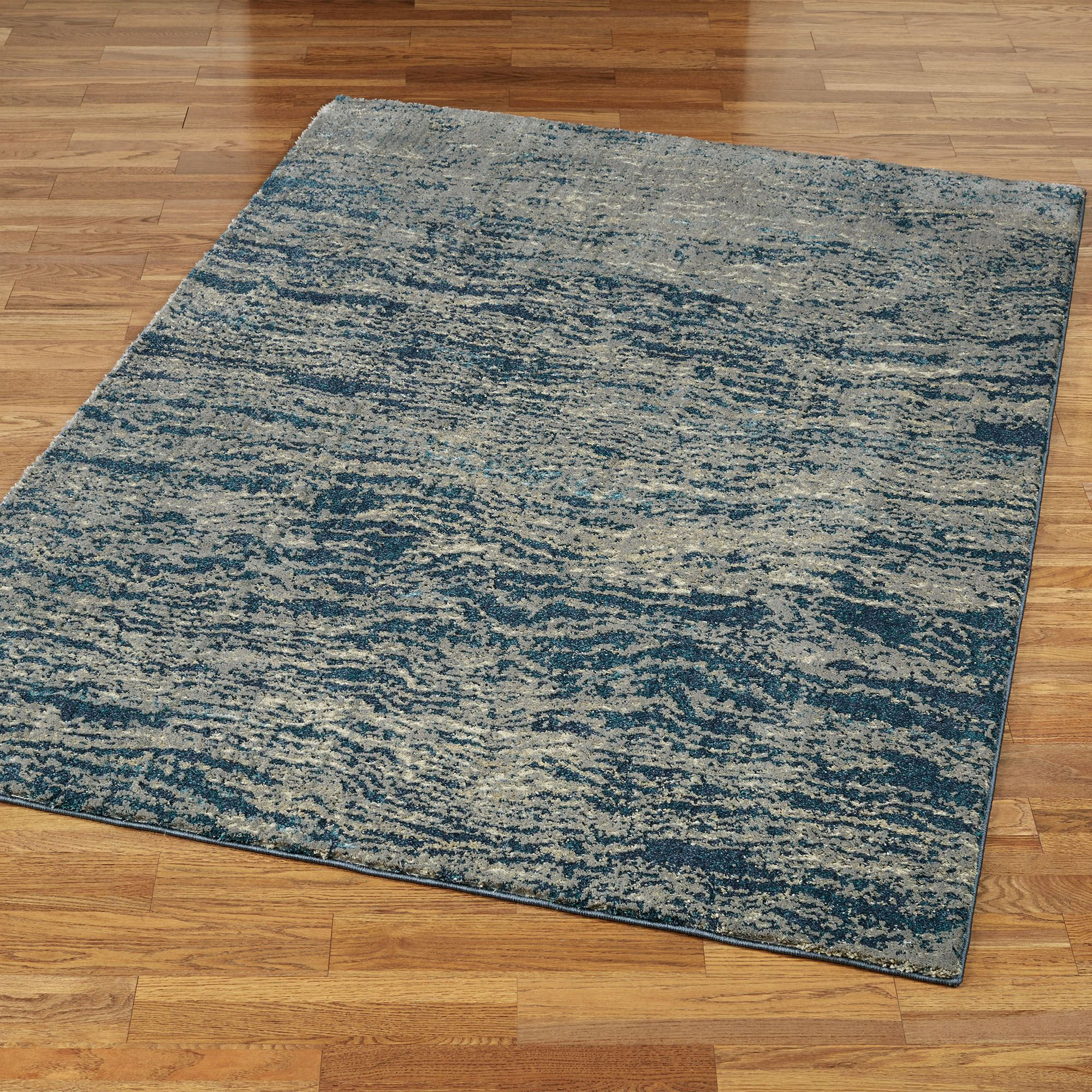 Marshall Cobalt Blue And Gray Abstract Area Rugs