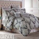 Dianella Damask Medallion Black Comforter Set Bedding From Croscill