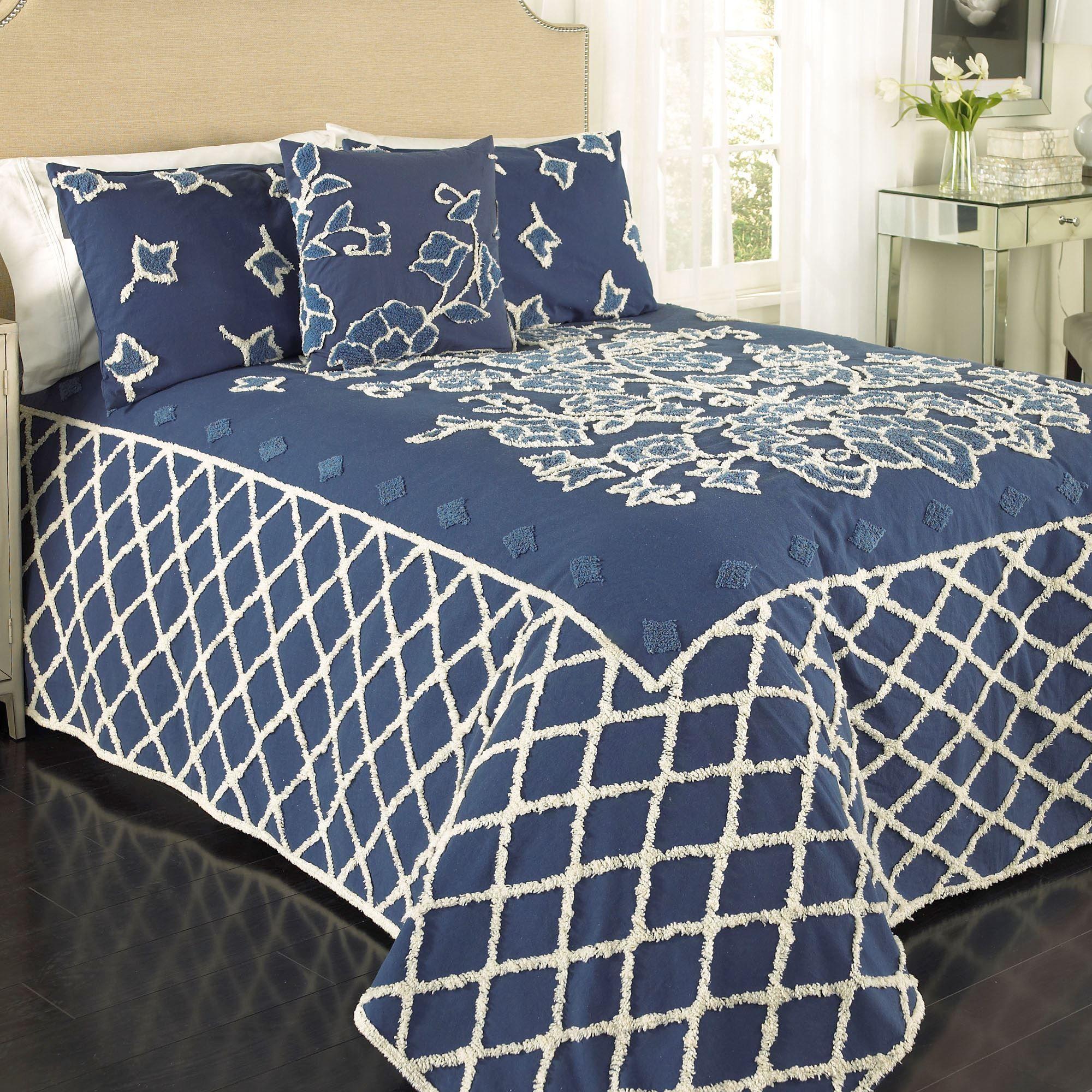 blue grotto cotton chenille