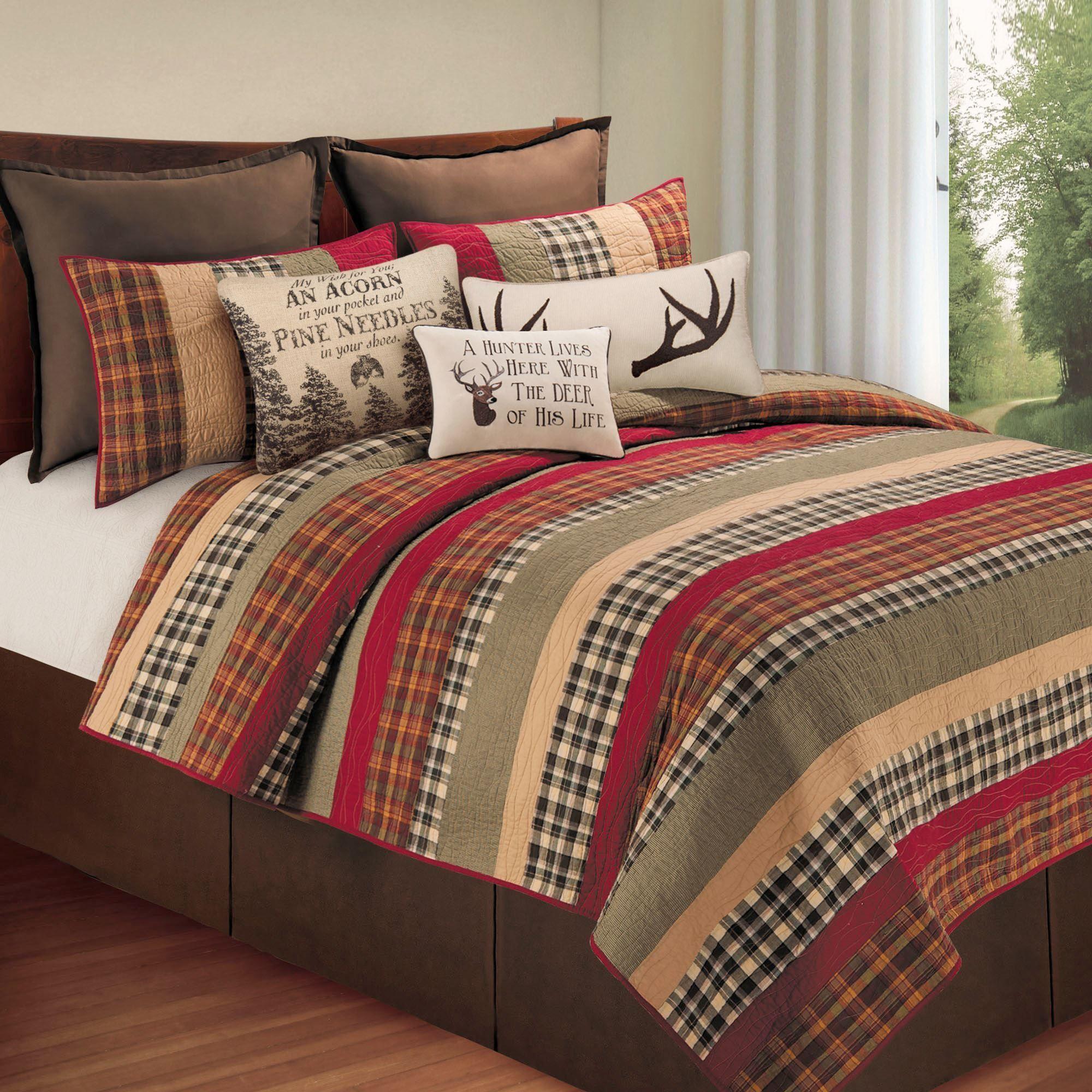 burgundy kitchen rugs washable rug hillside haven rustic plaid quilt bedding