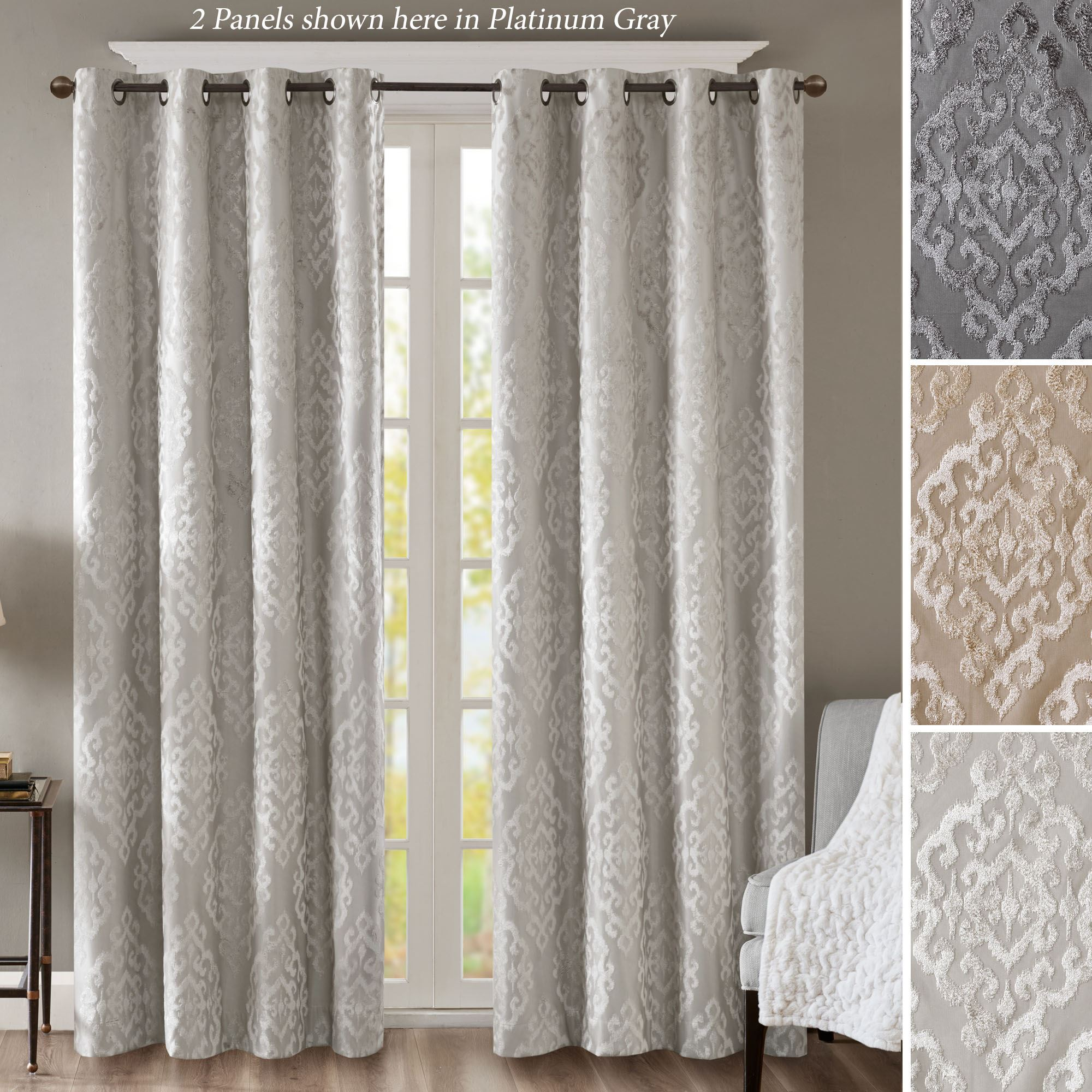 mirage sunsmart thermal blackout grommet curtain panel