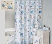 seashell shower curtain