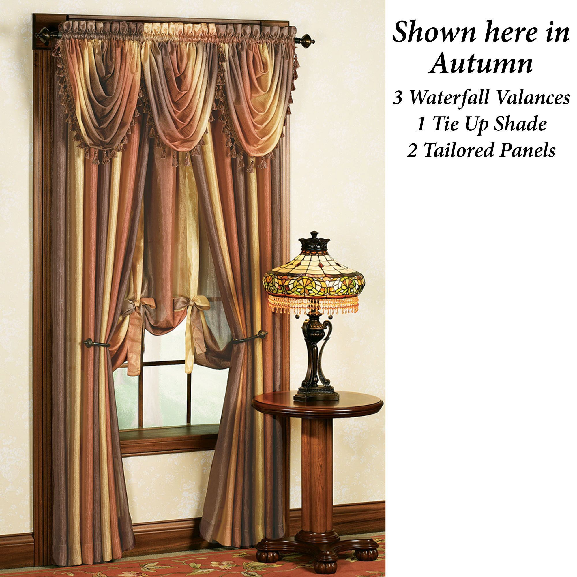 Ombre SemiSheer Waterfall Valances