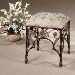 Bedroom Makeup Chair Blue Pads Raina Vanity Stool