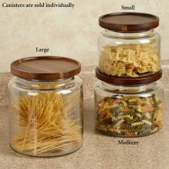 Canisters Kitchen Small Table Calvina Stackable Glass Canister Clear Touch To Zoom