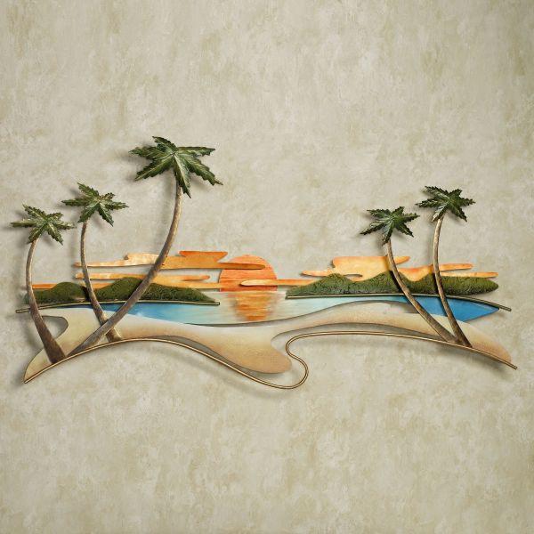 Caribbean Sunset Metal Wall Sculpture Jasonw Studios