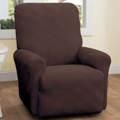 2 Seat Reclining Sofa Cover Raymond And Flanigan Furniture Bed Double Diamond Stretch Recliner Slipcovers Slipcover