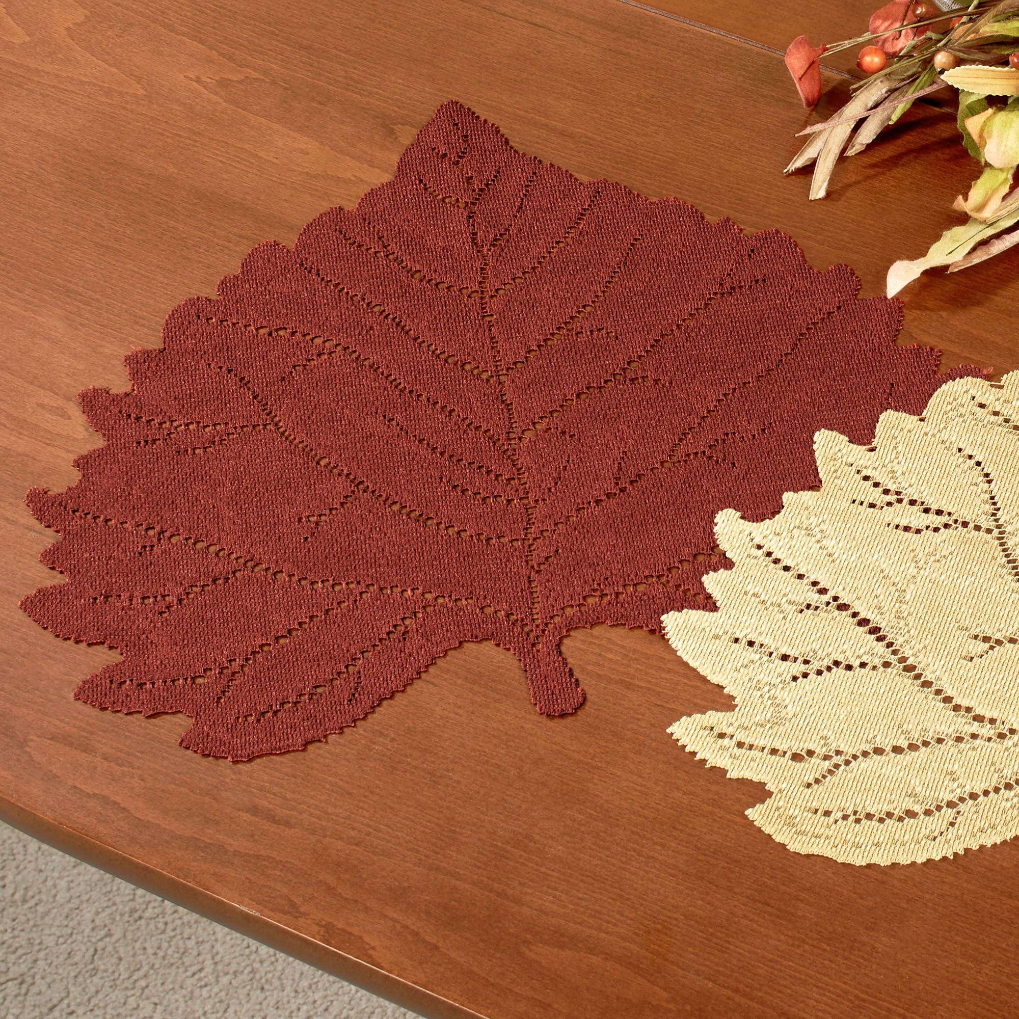 falling leaves autumn placemat