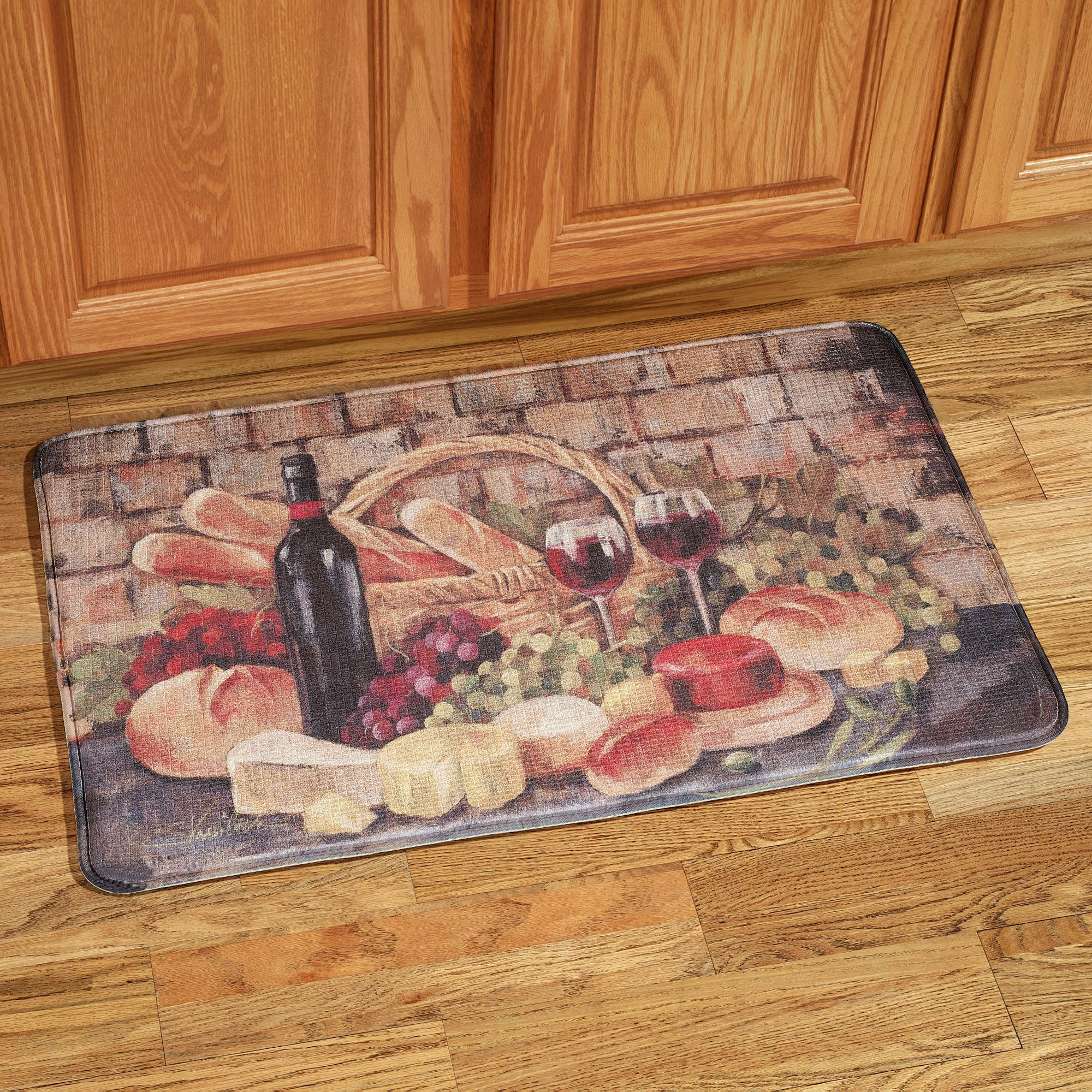 memory foam kitchen rug 5 drawer base cabinet tuscan evening comfort mat touch to zoom