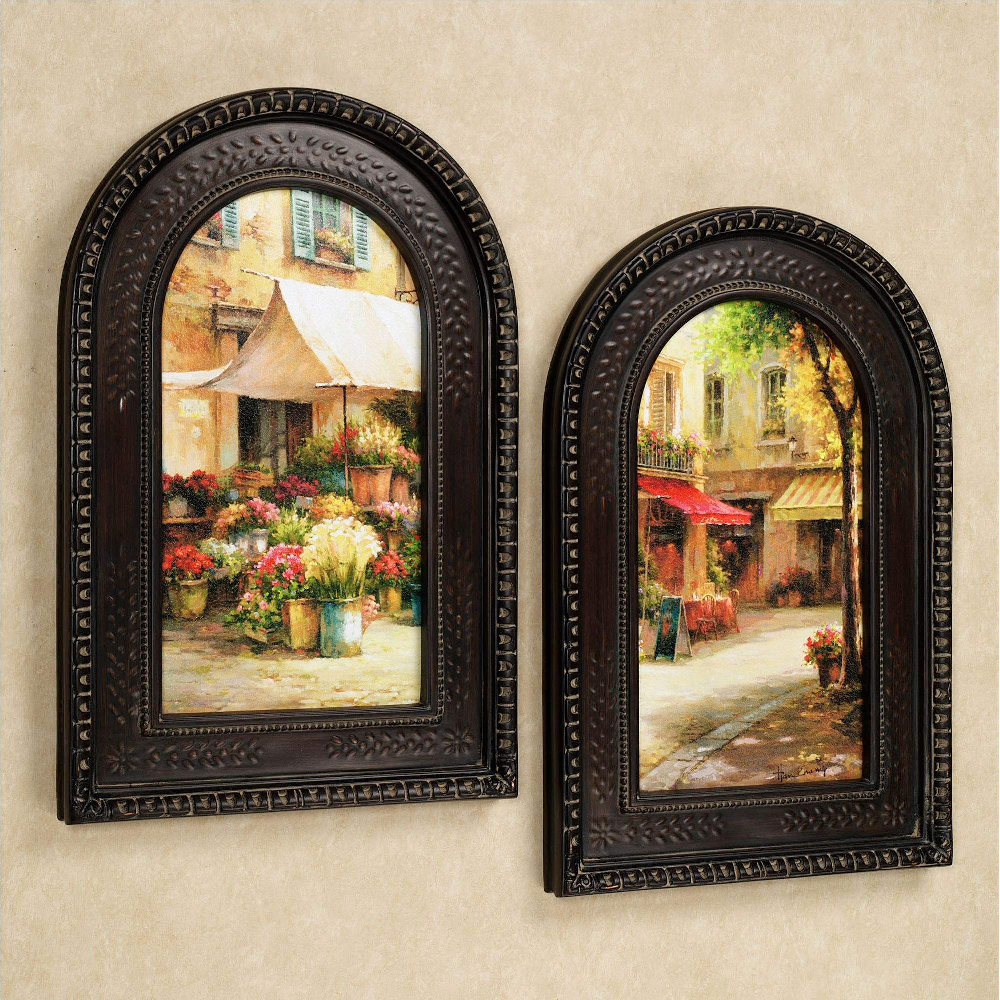 the flower market arched framed wall art set