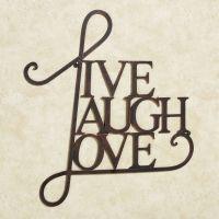 Live Laugh Love Metal Word Wall Art
