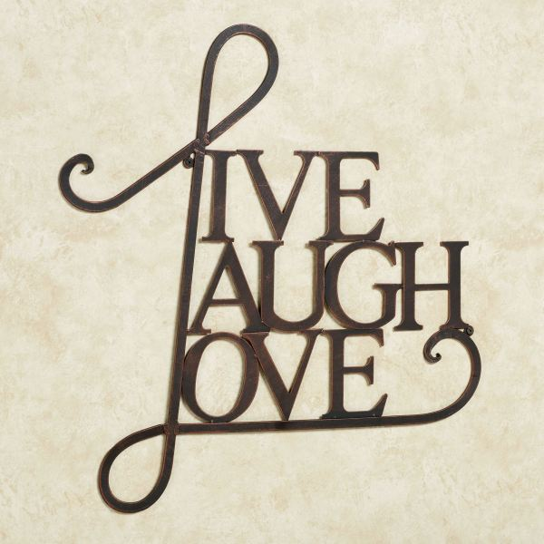 Live Laugh Love Metal Word Wall Art