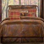 Gatlinburg Rustic Faux Leather Comforter Bedding