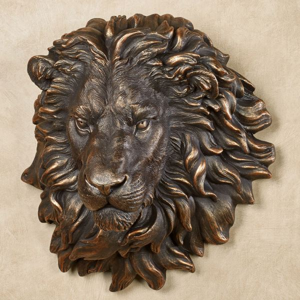 Power And Presence Lion Head Wall Sculpture