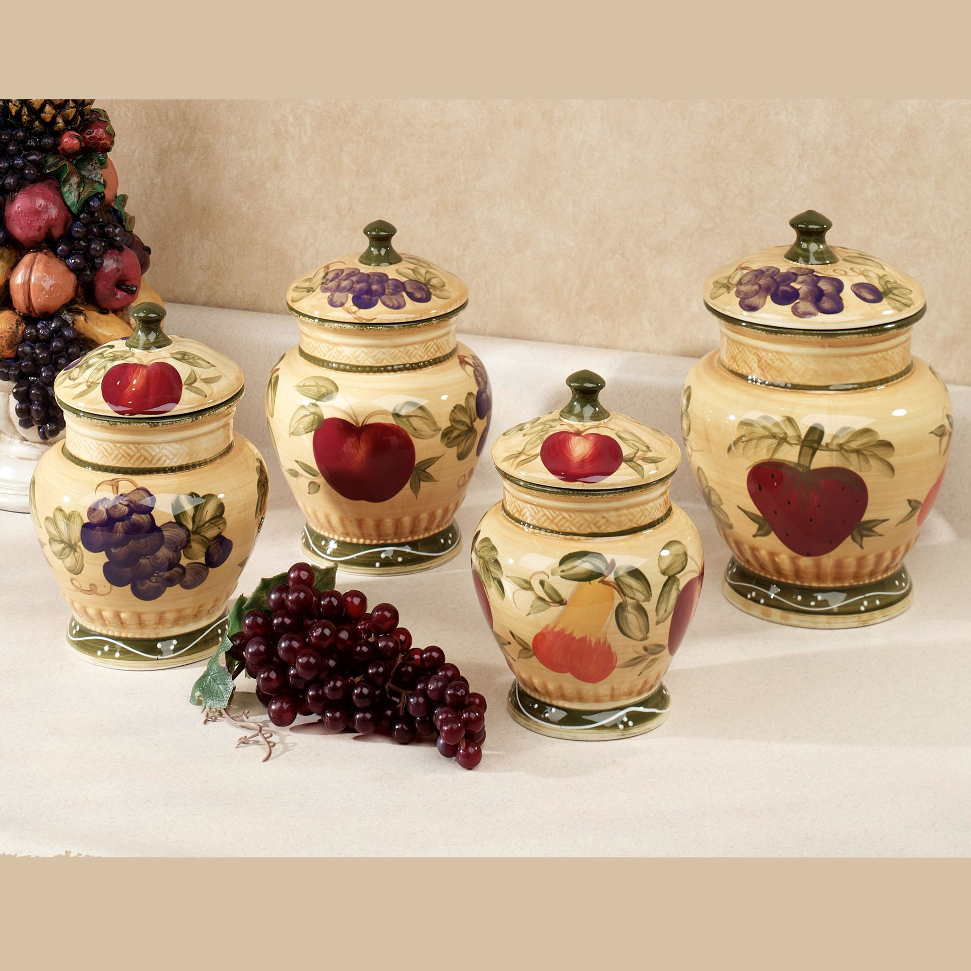 fruit decor for kitchen gray island european canister set touch to zoom