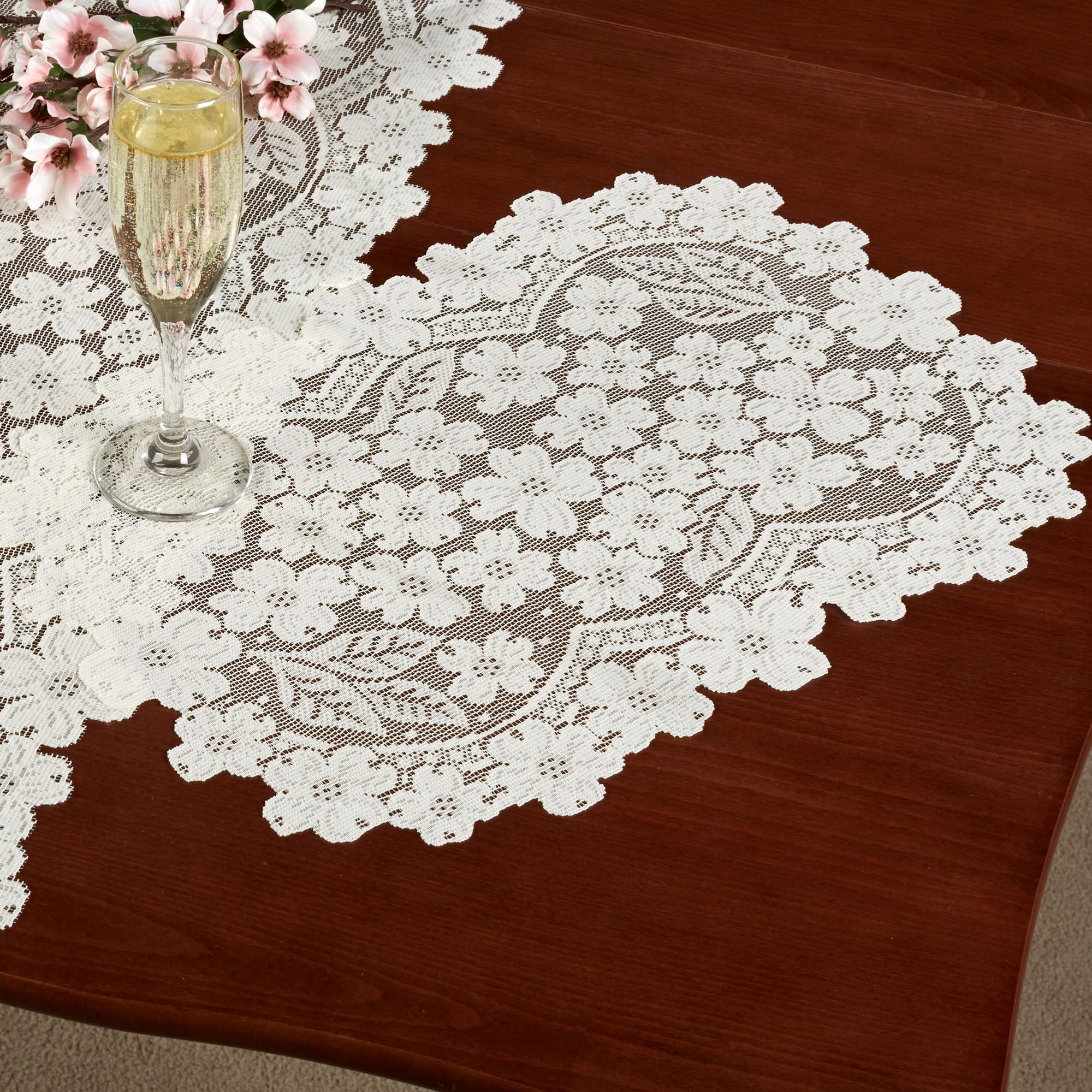 dogwood lace table runners
