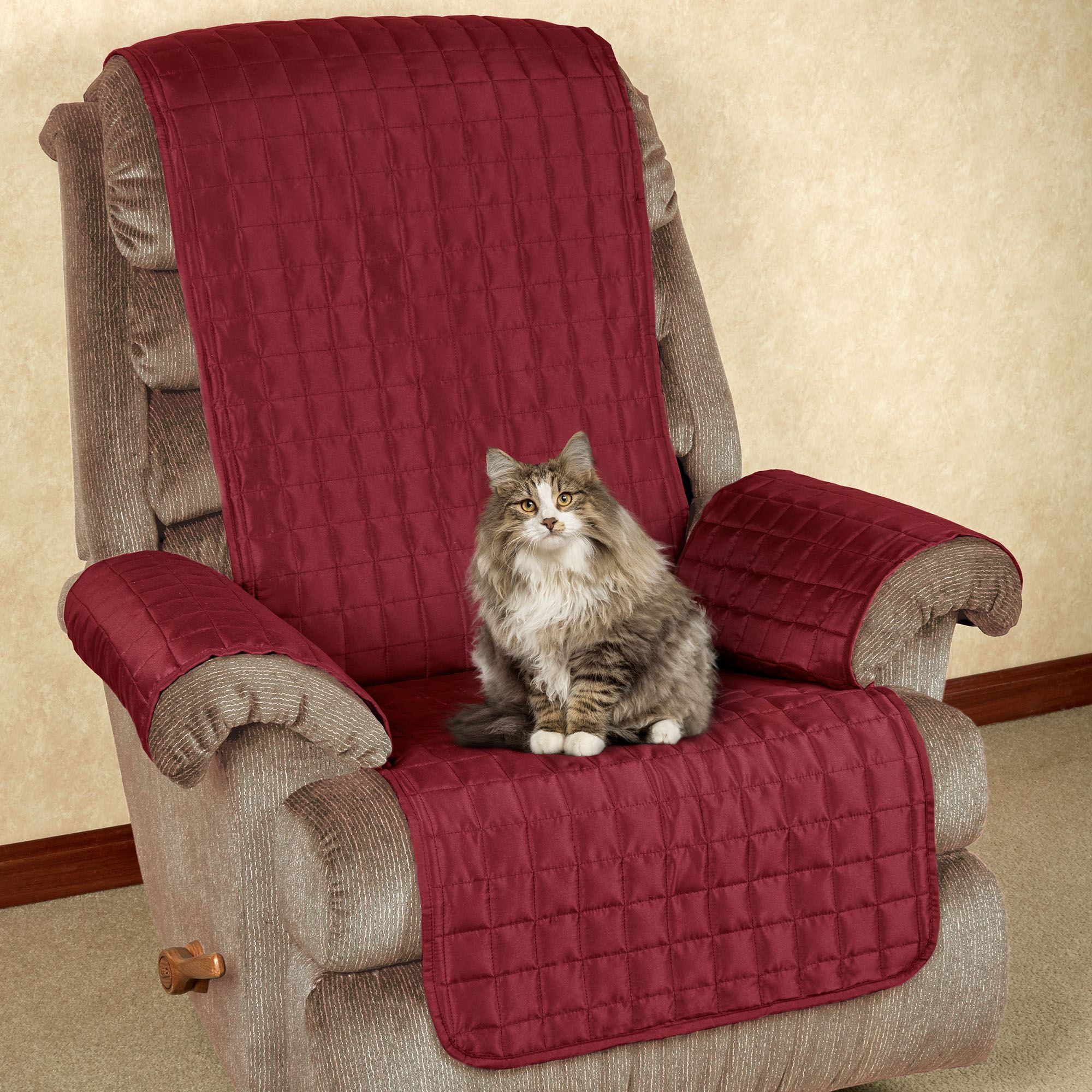 microfiber recliner chair covers waiting chairs pet furniture with tuck in flaps