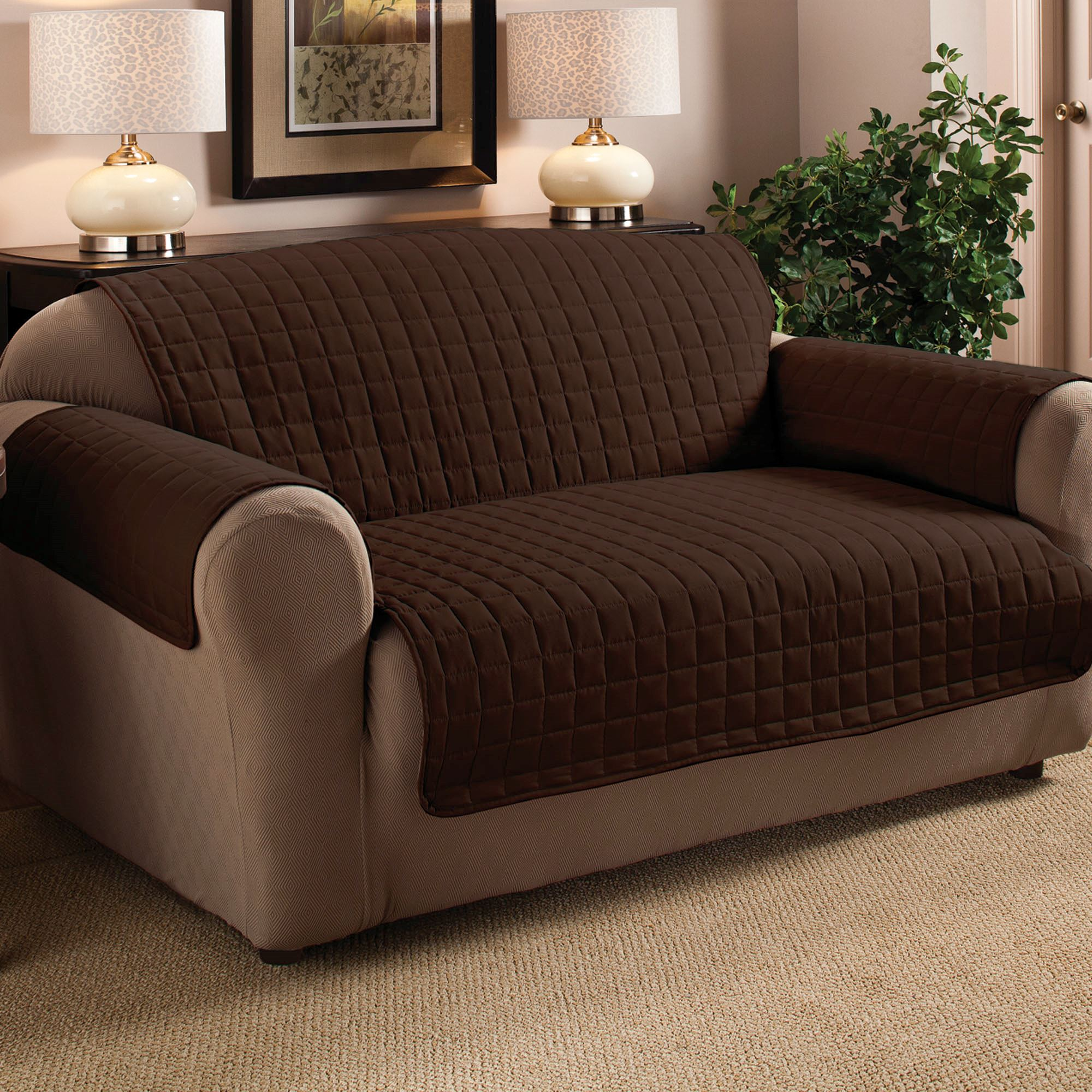 burgundy leather sofa and loveseat orange brown microfiber pet furniture covers with tuck in flaps