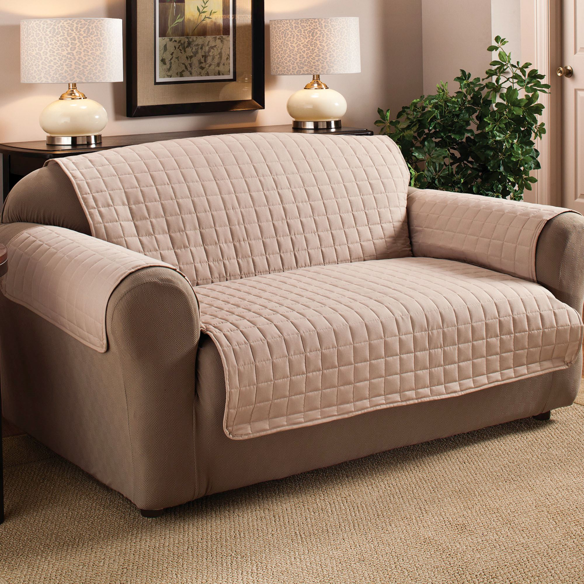 long sofa pet cover nailhead set microfiber furniture covers with tuck in flaps