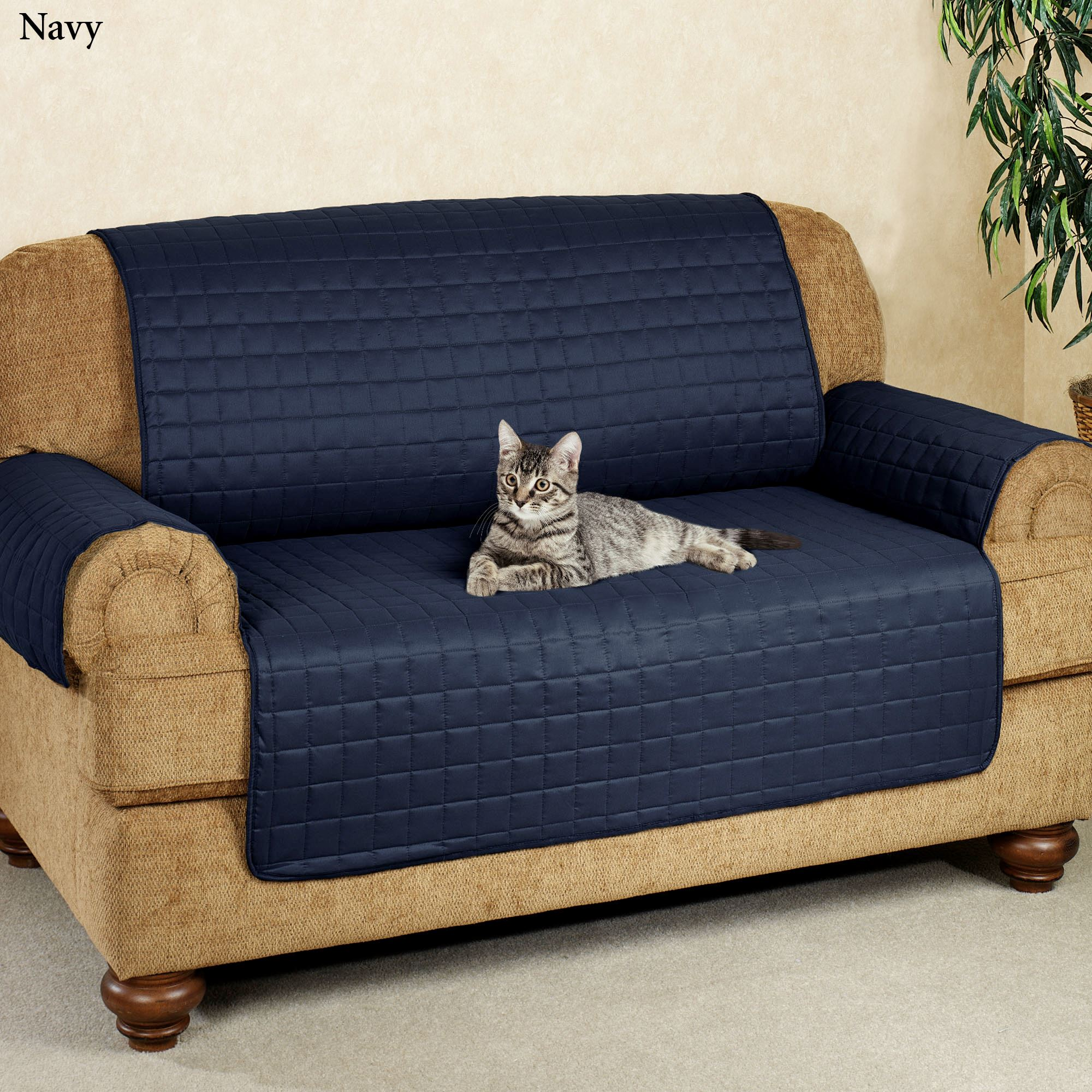 navy blue pet sofa cover cleaning microsuede microfiber furniture covers with tuck in flaps