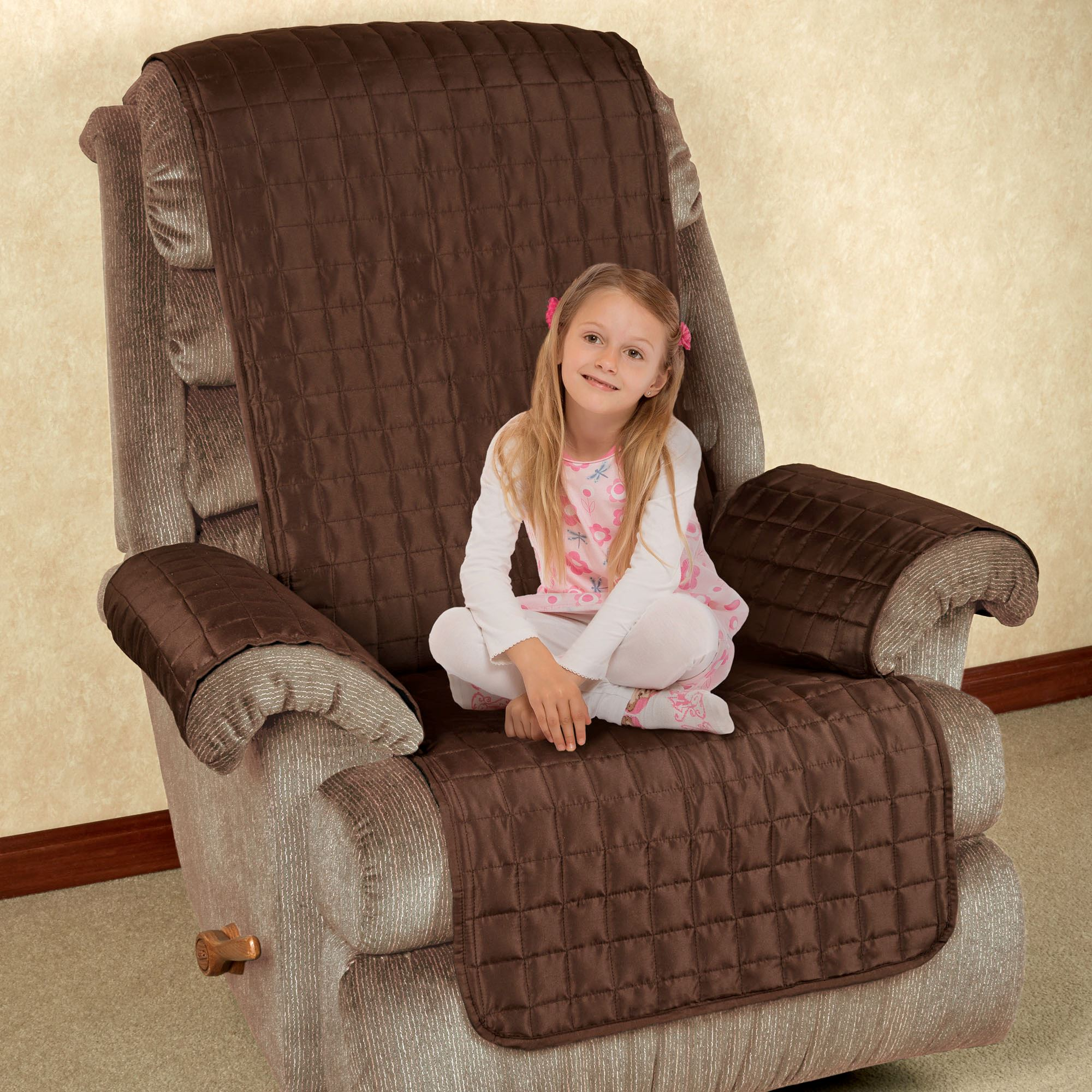 microfiber recliner chair covers reclining patio pet furniture with tuck in flaps