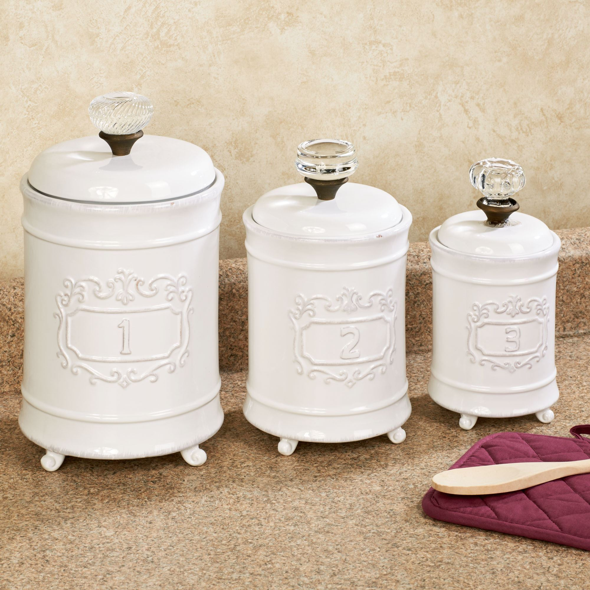 canisters kitchen aid grills circa white ceramic canister set touch to zoom