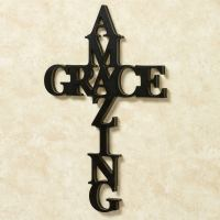Amazing Grace Word Cross Wall Art