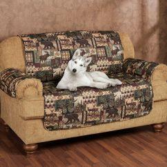 Deer Print Sofa Covers White Chair Home The Honoroak