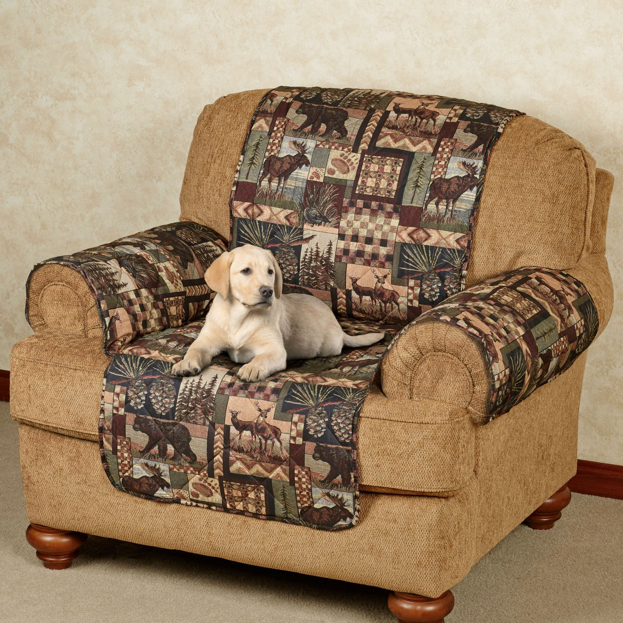 chair covers couch office arms replacement parts uk lodge quilted microfiber pet furniture