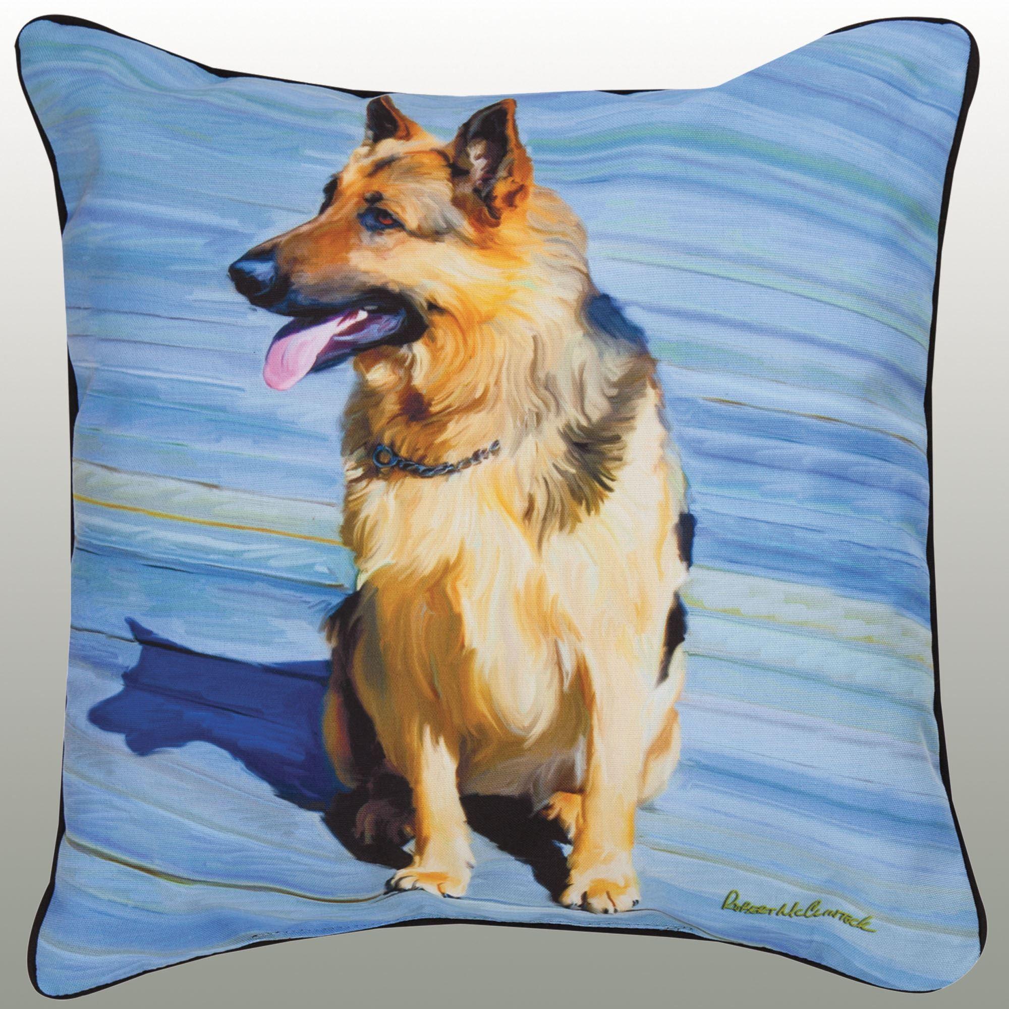 german shepherd decorative dog pillow