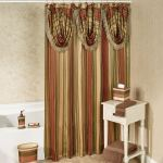 Contempo Striped Shower Curtain With Valance