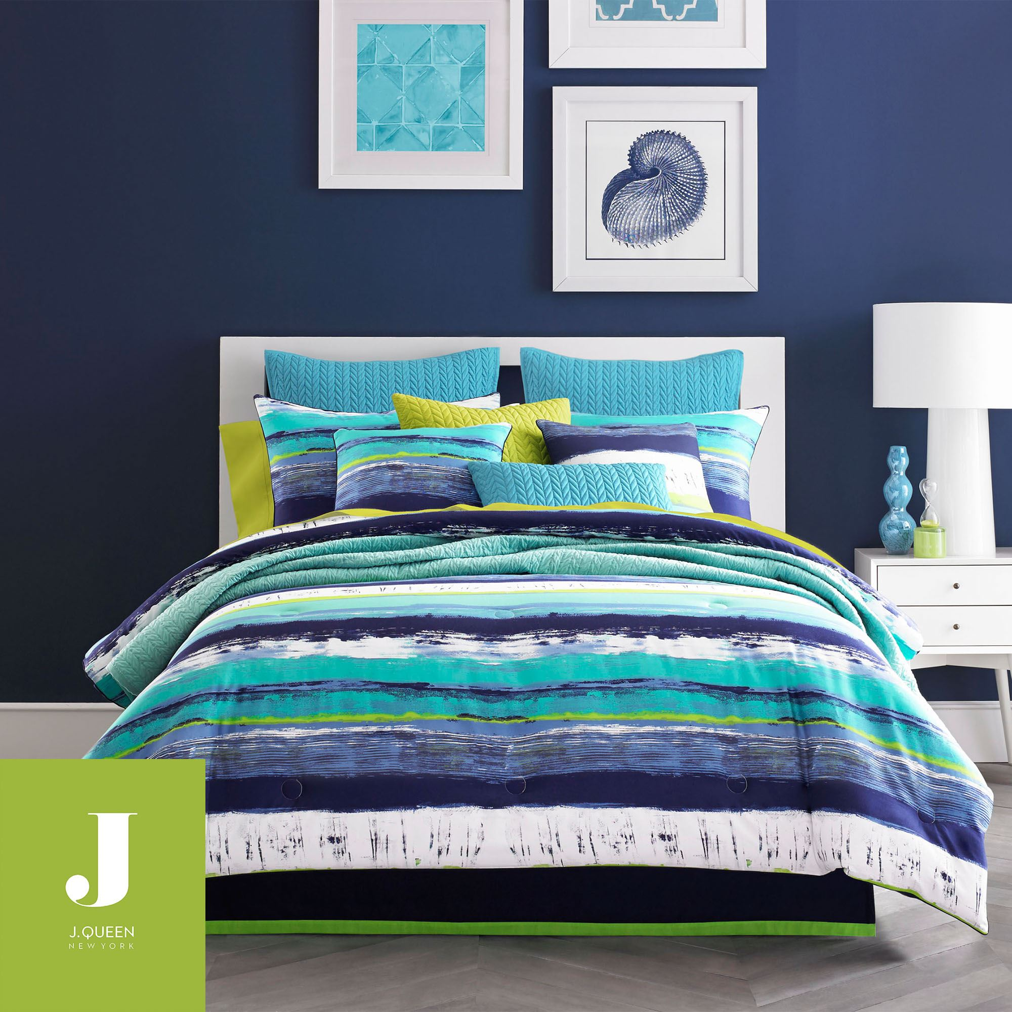 Cordoba Teal Comforter Bedding from J by J Queen New York